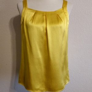 J. Crew 100% silk yellow gold blouse